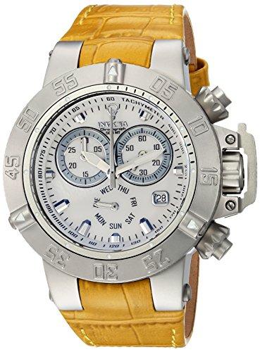 Invicta Womens Analog Quartz Watch with Leather Calfskin Strap 23172