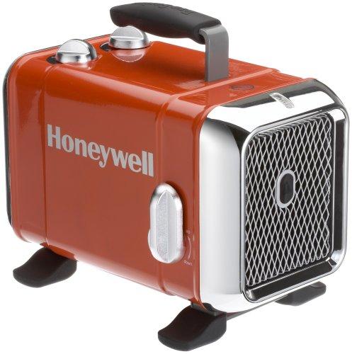 Honeywell HZ-510E Keramik-Heizlüfter in rot/Chrom, 1100/1800 Watt breiter Standfuß Test