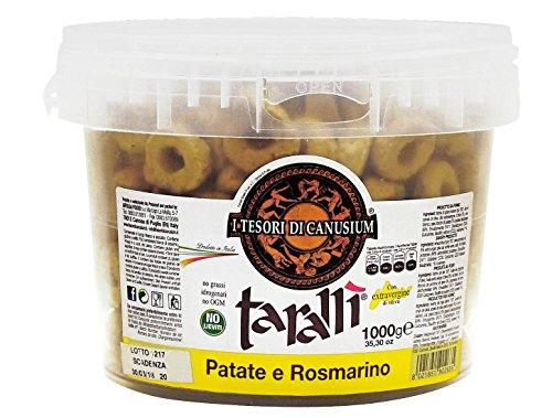 I tesori di canusium ce'taradd secchiello tarallì patate e rosmarino - 1000 g