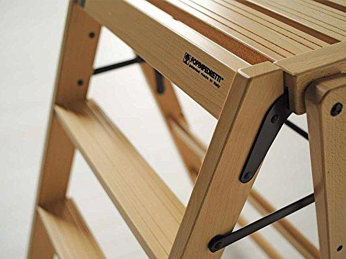 Sedia sgabello in legno massello h cm da terra noce scuro con