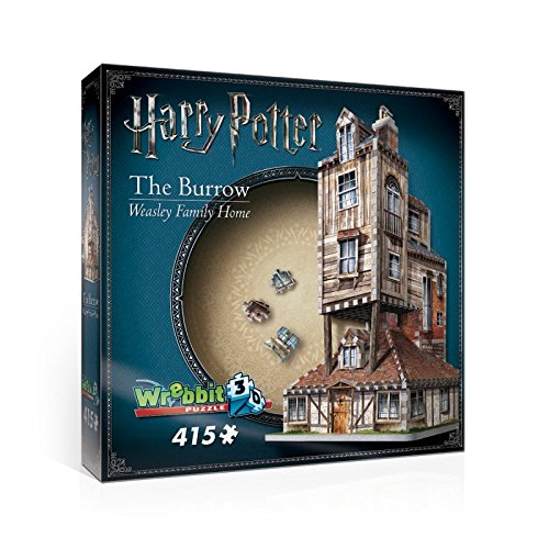 Harry Potter's The Burrow: Weasley Family Home. 415 Piece 3D Jigsaw Puzzle Made by Wrebbit Puzz-3D