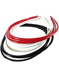 Alice Trendz Hair Bands For Girls Multi Color Red ,white ,red Pack Of 9