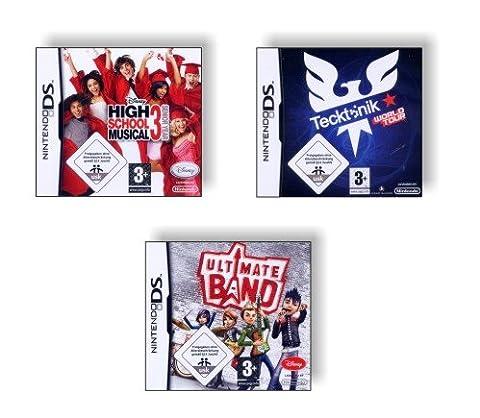 DS Spiele Pack - Ultimate Band + High School Musical 3 Senior Years + Tecktonik World Tour - für Nintendo (High School Musical-pack)