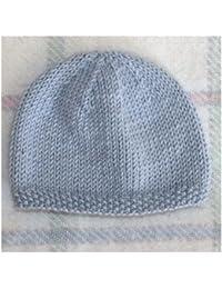 Bonnet de Naissance pour Bébé en Laine Deluxe   Fait Main - Bleu   1 Mois 9e95e601587