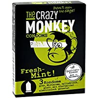 The Crazy Monkey Condoms Fresh Mint, 3er Packung preisvergleich bei billige-tabletten.eu