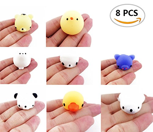 8PCS Bloomood Squishy Toy Great fidget toy, Kawaii Cute Slow Rising Animal Hand Toy Squeeze Kids Toy Gift, Soft Cute Animal Stress Relief Toys Gift for Kids Adults. (8 Styles)