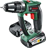 Bosch PSB 18 LI-2 Ergonomic Cordless Combi Drill with Two 18 V Lithium-Ion Battery