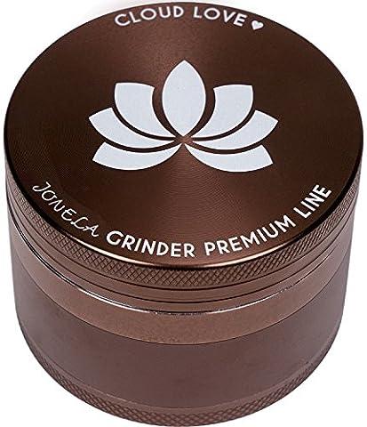 Lot de 3Premium Grinder Cloud Love–Bronze Design élégant–Lot de 4–XL Crusher Ø 63mm en aluminium de haute qualité | pour chanvre Tabac Weed Spice trockenkraeuter Herb