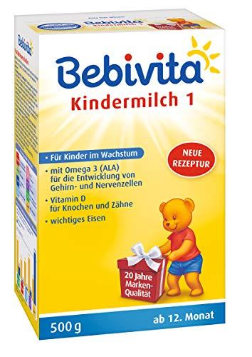 Bebivita Kindermilch 1+, ab dem 12. Monat, mit Omega 3, 2er Pack (2 x 500g)