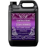 Dirtbusters Clean & deodorise 3-in-1-Konzentrat 1x 5Liter Reinigungsmittel, geruchsneutralisierend, für Teppich und Polstermöbel Geeignet für alle Teppichreinigungs-Maschinen, sicher für Wollteppiche und Teppichböden, keine Farbbeeinträchtigung, neutralisiert Tier-Gerüche