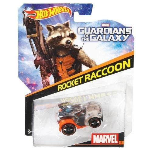 Hot Wheels, Marvel Guardians of the Galaxy Die-Cast Car, Rocket Raccoon #12, 1:64 Scale by Mattel