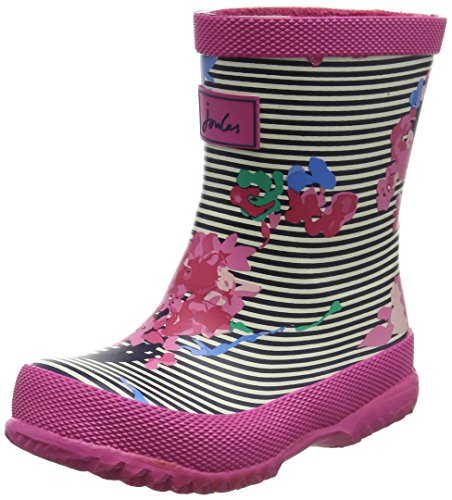 Tom Joule Baby Mädchen Welly Pferdeschuhe, French Navy Unicorns Multicolour (Stripe Floral)