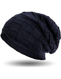 Compagno warm gefütterte Beanie Wintermütze Flechtmuster unifarben oder meliert mit weichem Fleece-Futter Mütze