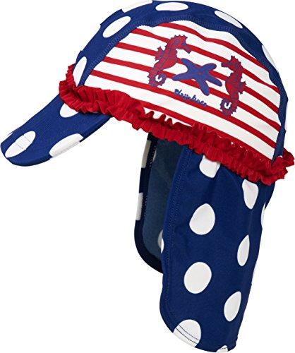 Playshoes Mädchen Mütze Badekappe, Bademütze Seeferdchen UV - Schutz nach Standard 801, Gr. Medium (Herstellergröße: 51cm), Mehrfarbig (original 900)