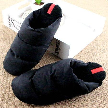 DogHaccd pantofole,Inverno in piuma di ispessimento pantofole di cotone leggero coppie soggiorno caldo scarpe antiscivolo fondo morbido cotone scarpe Il nero4