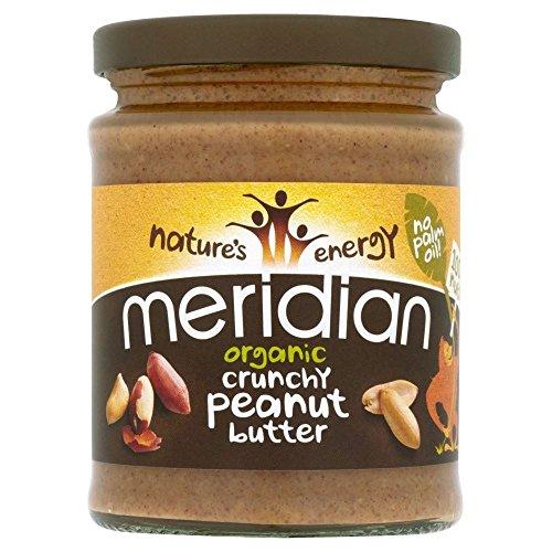 Meridian foods burro di arachidi biologico croccante senza sale (280g) (confezione da 2)