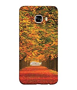 PrintVisa Nature Scene Scenary 3D Hard Polycarbonate Designer Back Case Cover for Samsung Galaxy C7 Pro