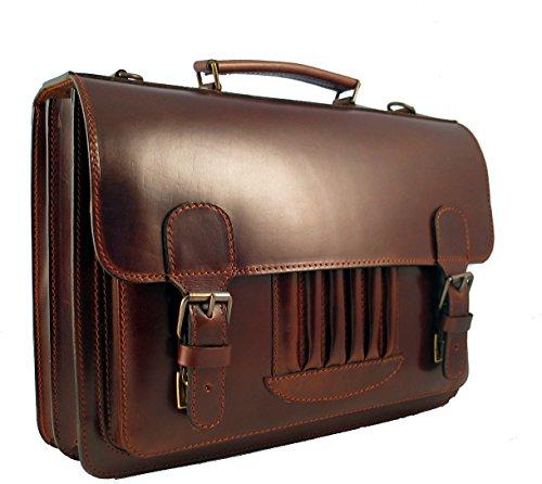 Vintage Aktentasche Leder im 50er Jahre Look v. Shalimar, Colour:Brown