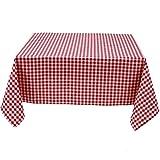 Hans-Textil-Shop Tischdecke 80x80 cm Karo 1x1 cm Rot Baumwolle