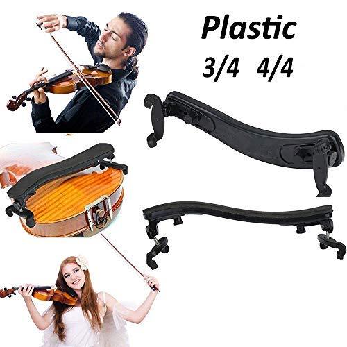 Verstellbare Schulterstütze für Violine/Geige/Violine / 3/4 / 4/4 Violine, Kunststoff, gepolstert, Schwarz