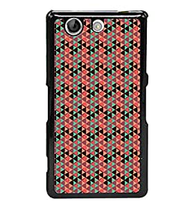 Colourful Pattern 2D Hard Polycarbonate Designer Back Case Cover for Sony Xperia Z4 Compact :: Sony Xperia Z4 Mini