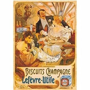 Poster - Vintage : Biscuits Champagne Lefèvre-Utile