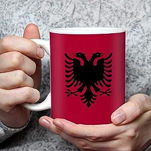 Geschenk Tasse mit Flagge Albanien Länder Flaggen Geburtstagsgeschenk Souvenir Albania für Reiseliebhaber Frauen Männer