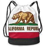 RAINNY Gym Drawstring Sports Bag Simple Quick Dry Bundle Backpack California