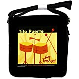 Tito Puente - Hot Timbales Official Album Cover - Black Unisex Messenger Bag - Small