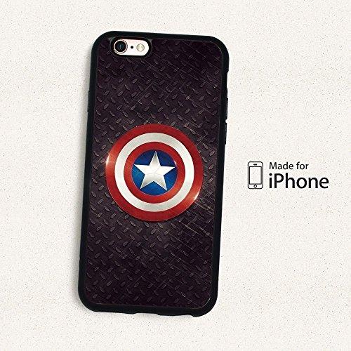 Super Héros Marvel Coque souple pour Apple iPhone 6Plus & 6plus. S, Captain America, APPLE IPHONE 6 PLUS.S