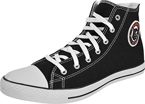1 Paar Tysonz Canvas Sneaker Unisex - Erwachsene Farbe Schwarz/Weiß Größe 39 (Schwarze Und Weiße Stiefel)