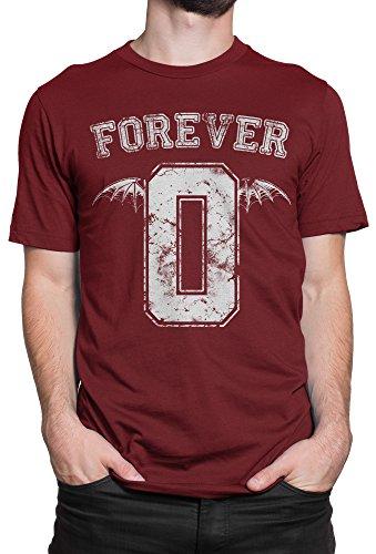 Herren-T-shirt Avenged Sevenfold - Forever 0 The Rev - 100% baumwolle LaMAGLIERIA Bordeaux