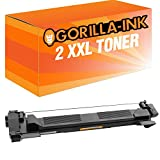 Gorilla-Ink® 2 Toner-Patrone XXL kompatibel für Brother TN-1050 Black HL-1112 Series MFC-1810 MFC-1815 MFC-1910W MFC-1911NW