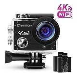 Action Cam 4K Ultra HD Wi-Fi Unterwasserkamera Crosstour Actioncam 2 'LCD Wasserdichte 30M 170...