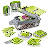#2: HomePuff Vegetable Cutter, Chopper,Grater & Julienne Slicer - 11 in 1 Multi-functional Adjustable Vegetable & Fruit Chopper Dicer with Storage Container