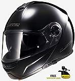 Casco de la motocicleta LS2 FF370 Fácil Motocicleta front flip Racing Casco L Negro Mate