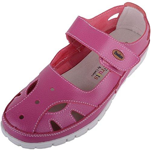 Absolute Footwear Damen Sandalen, Pink - Himbeere - Größe: 37.5