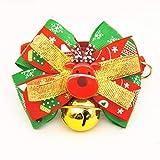 Yter Christmas Series Hundehalsband, modisch, mit Glöckchen, Fliege für Katzen und Hunde 19-30cm As Shown(1)