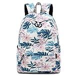 Joymoze Modischer Freizeitrucksack für Mädchen Jugendliche Schulrucksack Frauen Aufdruck Rucksack Geldbeutel (Süße Blume)