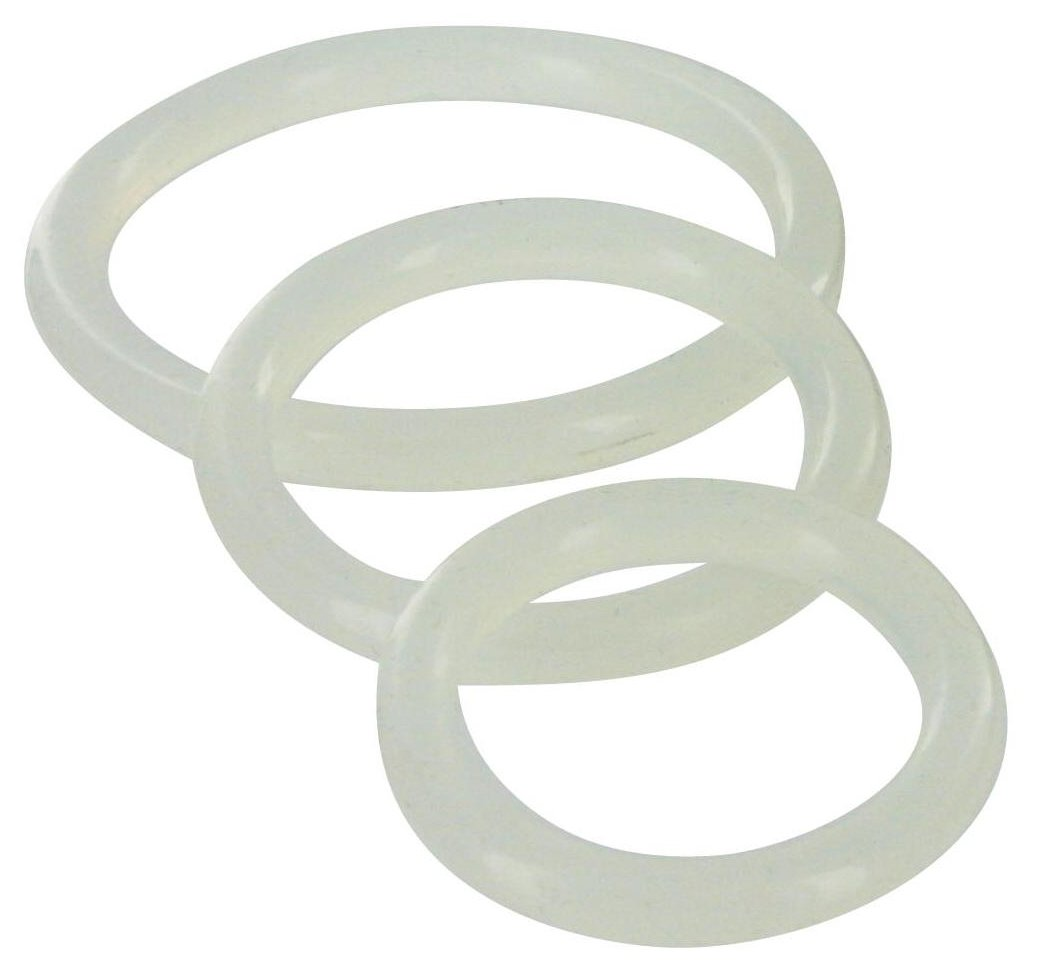Trinity Vibes Clear Silicone Cock Ring Set – 3-Piece