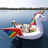 Quando hai voglia di divertirti con creature mitologiche, nessuna giornata al lago è completa se non ti rilassi su questo enorme unicorno gonfiabile, una gigantesca e divertente isola galleggiante di Otto Simon