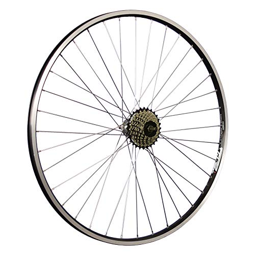 Taylor-Wheels 28 Zoll Hinterrad ZAC19 / 7 Fach Shimano Schraubkranz - schwarz