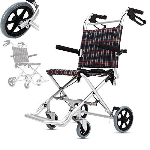Sedia a rotelle professionale di sanità, sedia a rotelle di Kaiyang, lega di alluminio leggera pieghevole, carrello portatile leggero eccellente, sedia di viaggio portatile di transito,Cushion36cm