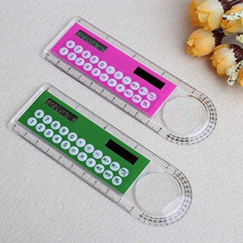 Manyo Mini-Lineal mit digitalem Taschenrechner, 2-in-1 -