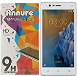 Annure Nokia 3 Tempered Glass [ Oil and Dust proof] [100% transparency]