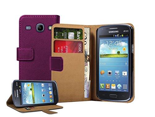 Membrane - Viola Portafoglio Custodia Compatibile con Samsung Galaxy Core (GT-i8260 / GT-i8262 Core Duos) - Wallet Flip Case Cover