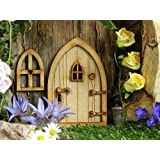 Country Cottage 3D en bois porte de fée Craft Kit avec fenêtre et accessoires