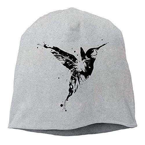 a87ca0e4 GONIESA Ink Hummingbird Winter Beanie Skull Cap Warm Knit Ski Slouchy Hat  Durable Fashion Beanie Caps