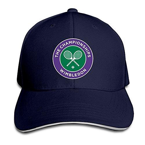 Huseki 2016 Wimbledon Tennis Championships Flex Baseball Cap Black Navy Flex-fit Cotton Twill Cap