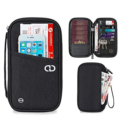 dayday Travel Wallet Organiser with RFID Blocking Unisex Passport Holder